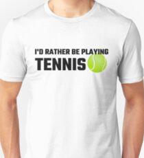 Ich würde lieber Tennis spielen Slim Fit T-Shirt