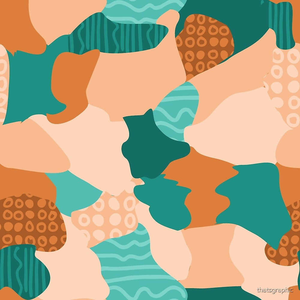 Modern abstract handdrawn textured shapes by thatsgraphic