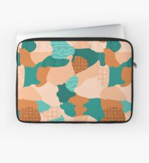 Modern abstract handdrawn textured shapes Laptop Sleeve