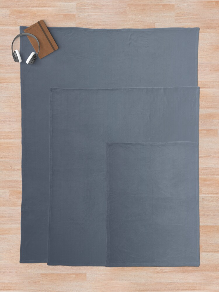 Alternate view of Gradient color: Gray Throw Blanket