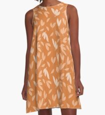 Floating autumn leaves A-Line Dress