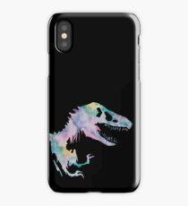 Watercolor Jurassic (black) iPhone Case