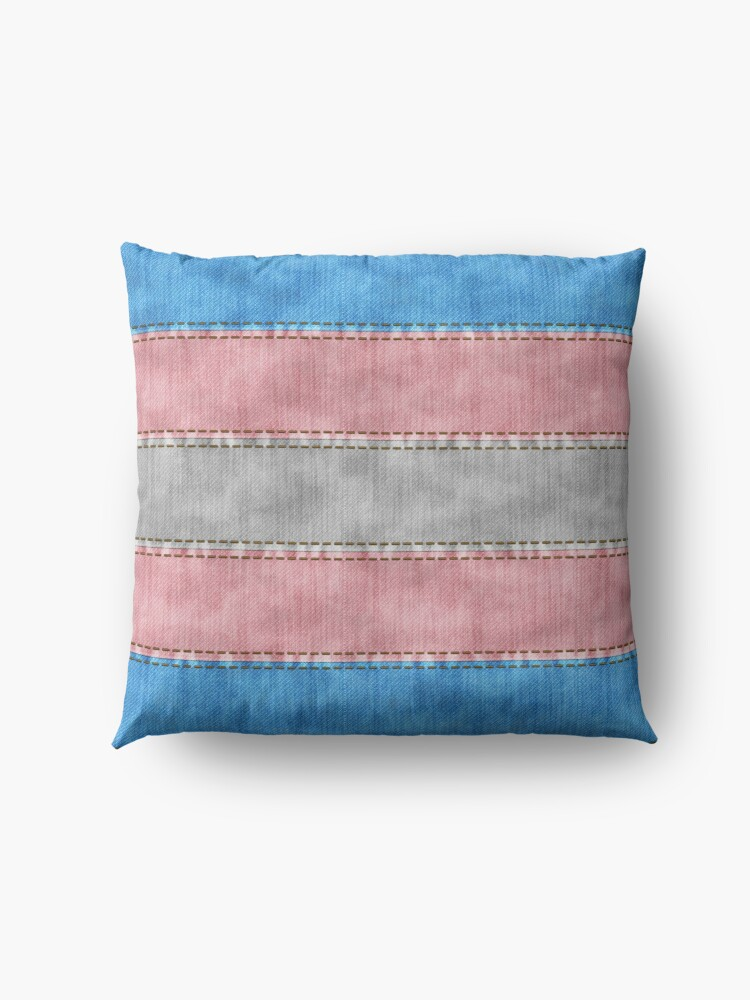 Alternate view of Transgender Denim Flag Floor Pillow