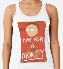 Rick and Morty: Time for a Morty Racerback Tank Top