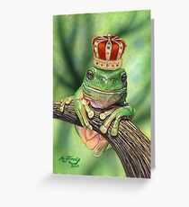 Frog Prince Greeting Card
