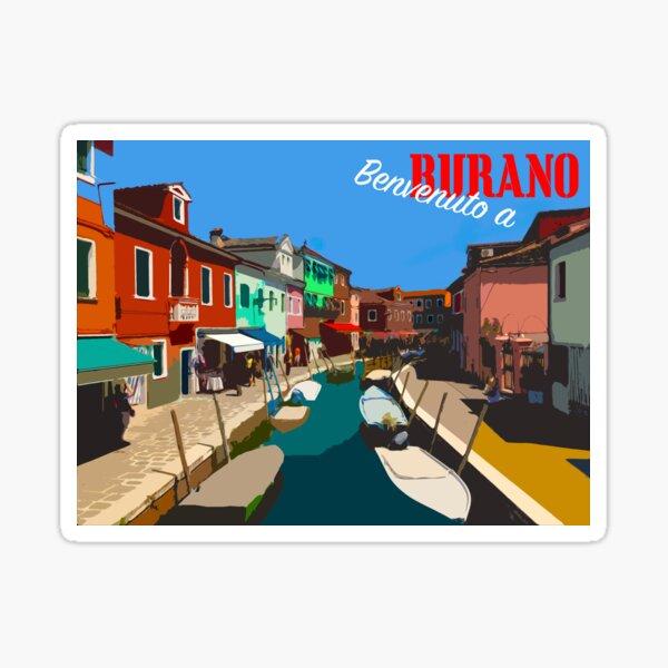 Island of Burano Postcard Sticker