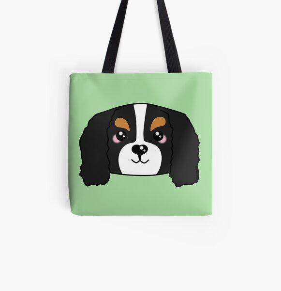 Cute Cavalier King Charles Spaniel All Over Print Tote Bag