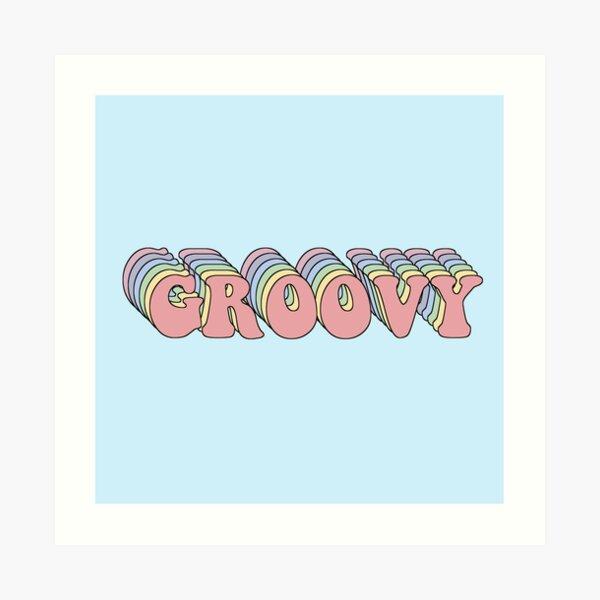 Groovy Retro Art Print