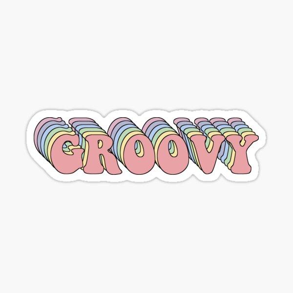 Groovy Retro Sticker
