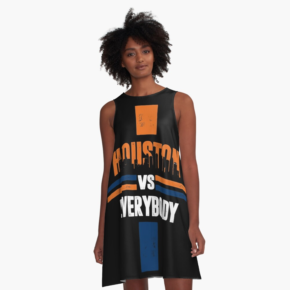 Houston sports fans  A-Linien Kleid