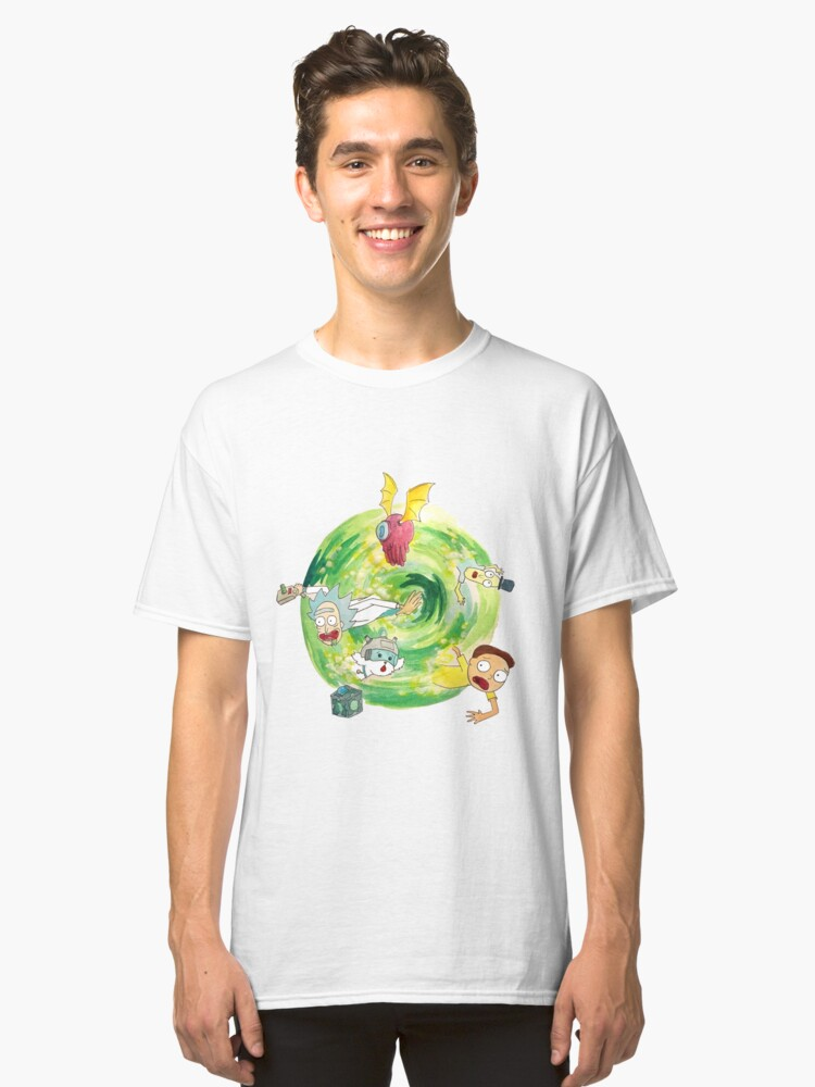 Alternate view of Rick and Morty Portal  Classic T-Shirt