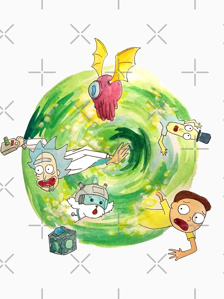 Rick and Morty Portal  by maddiesdrawings