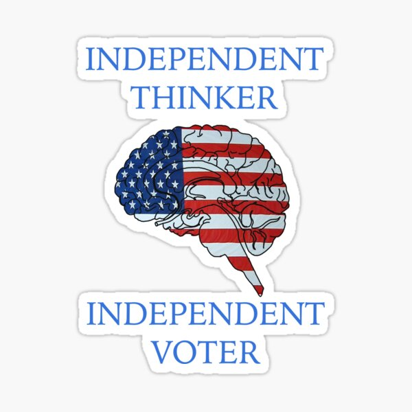 Independent Voter Sticker