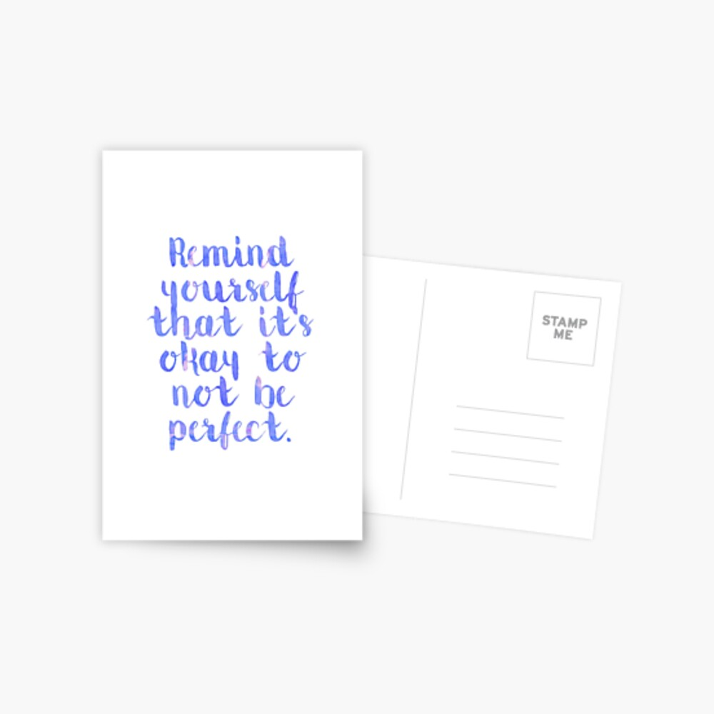 Perfektes Zitat Postkarte