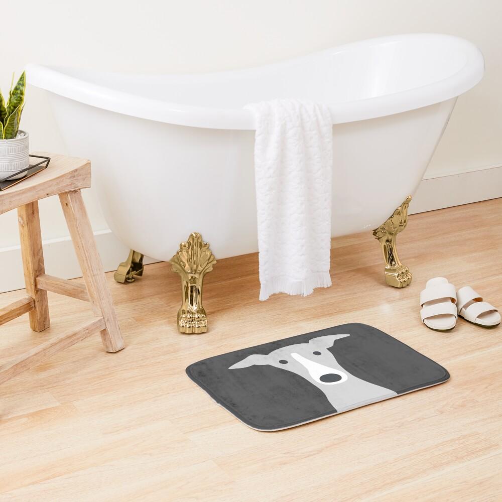 Greyhound | Italian Greyhound | Cute Whippet Dog  Bath Mat