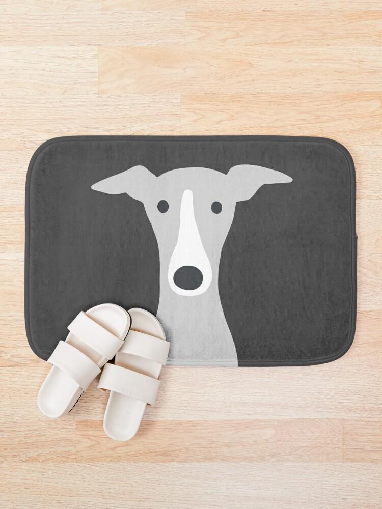 Alternate view of Greyhound | Italian Greyhound | Cute Whippet Dog  Bath Mat