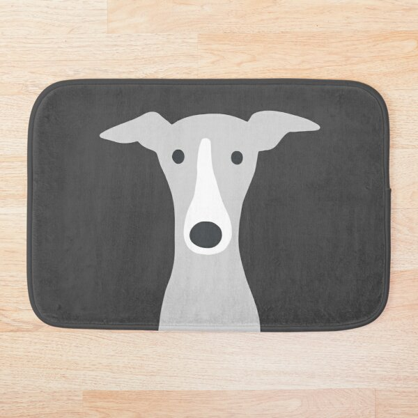 Greyhound | Italian Greyhound | Cute Whippet Dog  Bath Mat