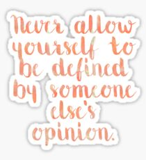Defined Quote Sticker