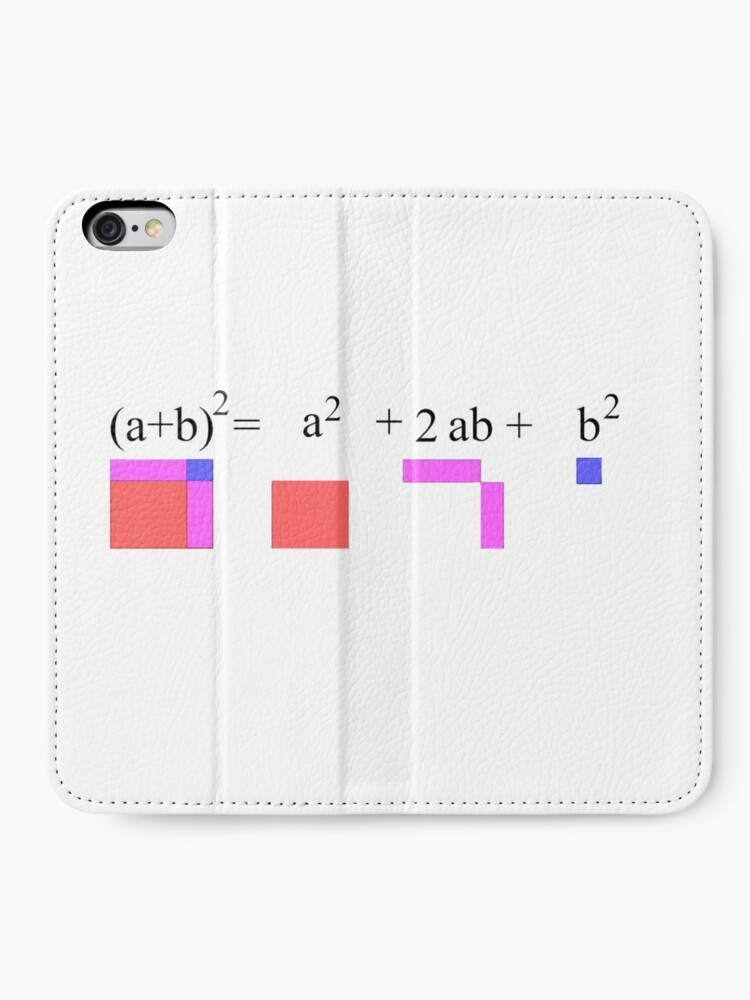 Alternate view of Visualization of Binomial Expansion for the 2nd Power  #Visualization #Binomial #Expansion #Power iPhone Wallet