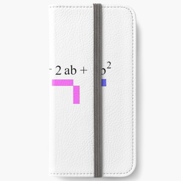 Visualization of Binomial Expansion for the 2nd Power  #Visualization #Binomial #Expansion #Power iPhone Wallet