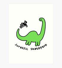Jurassic Skatepark Art Print