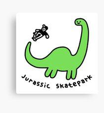 Jurassic Skatepark Canvas Print