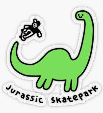 Jurassic Skatepark Transparent Sticker