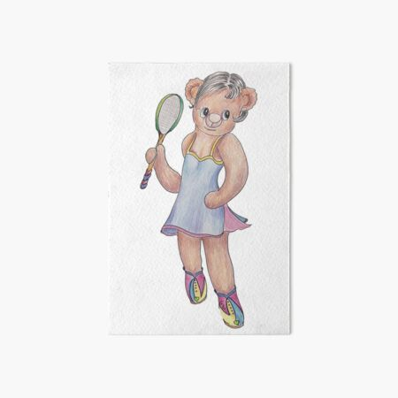 Tracy Bear Tennis Champion Art Board Print