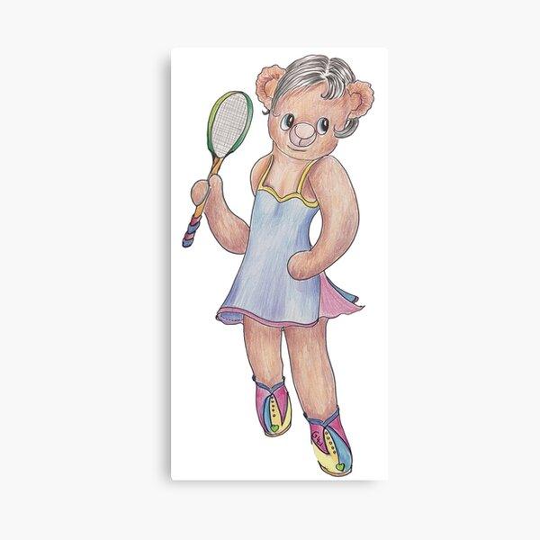 Tracy Bear Tennis Champion Canvas Print