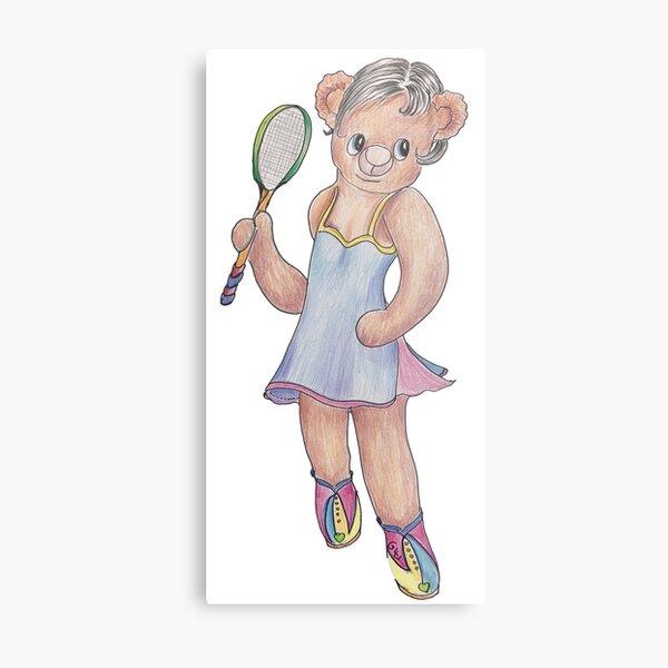 Tracy Bear Tennis Champion Metal Print
