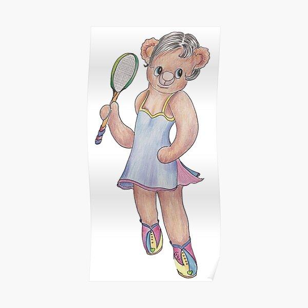 Tracy Bear Tennis Champion Poster