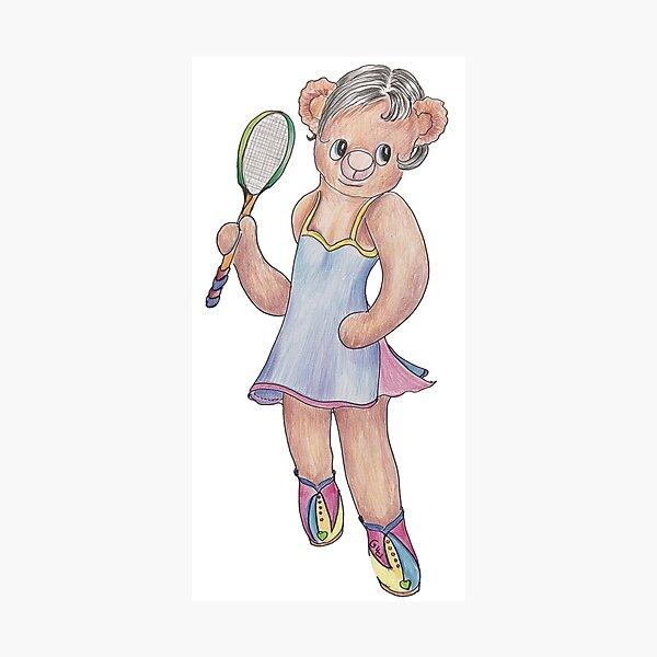 Tracy Bear Tennis Champion Photographic Print
