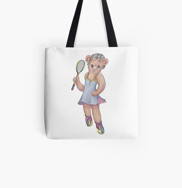 Tracy Bear Tennis Champion All Over Print Tote Bag