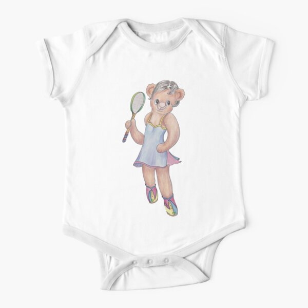 Tracy Bear Tennis Champion Short Sleeve Baby One-Piece