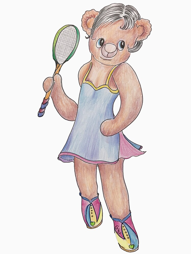 Tracy Bear Tennis Champion by GalleryGiselle