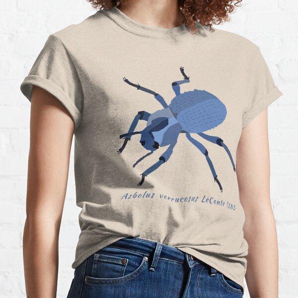 Coléoptère feignant bleu, Asbolus verrucosus, portrait T-shirt classique