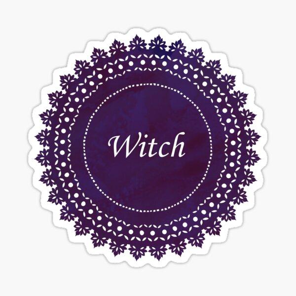 Lace Doily Witch Sticker