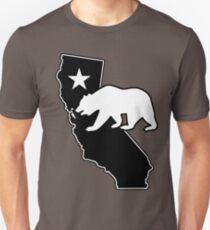 California State Flag Bear (blackout style) T-Shirt