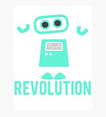 Robot Revolution Uprising Photographic Print