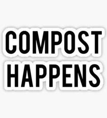 Compost Happens Gardening Sticker