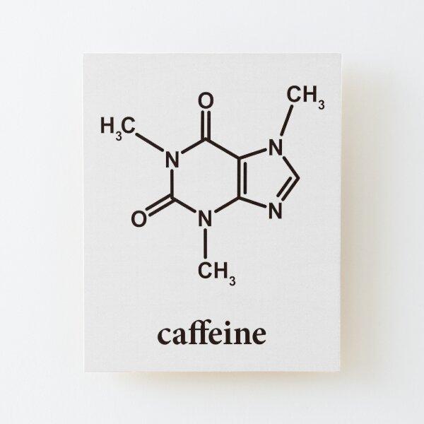 Caffeine Molecule Wood Mounted Print