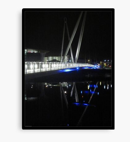 Newport City Footbridge Reflection Canvas Print