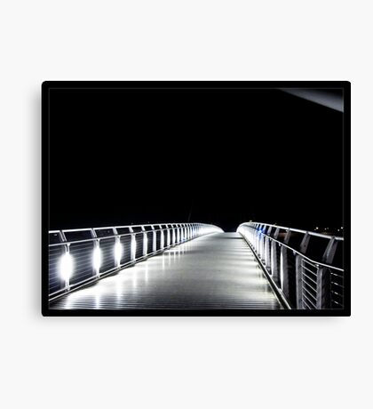 Footbridge to Darkness Canvas Print