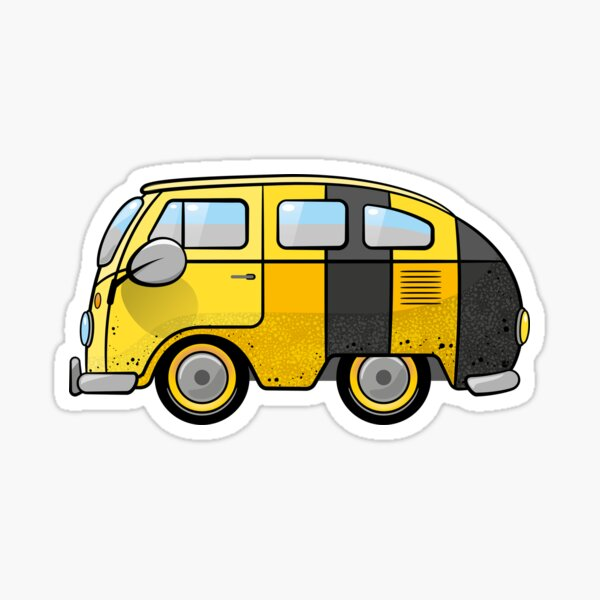Combi Van and Bees. A swarm of combees! Sticker