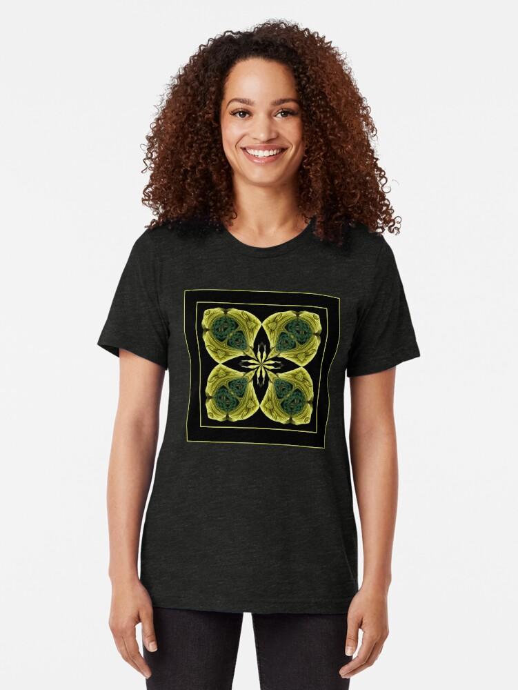 Alternate view of The Flower Shawl Tri-blend T-Shirt