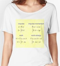 #Physics, #Mechanics, #Impulse, #Momentum, Work, Energy, Force, Time, Velocity, Cosine, Delta, Integral, Difference Relaxed Fit T-Shirt
