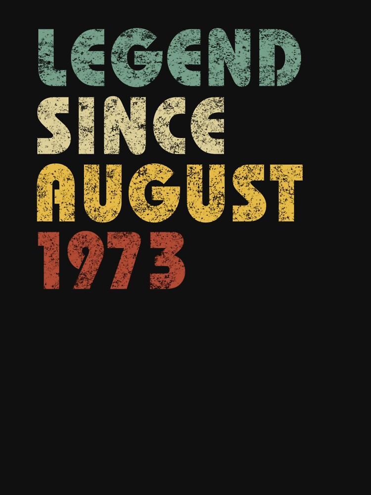 Leyenda Desde agosto de 1973 Regalo de cumpleaños Regalo de época Citas divertidas Refranes de hlcaldwell