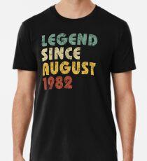 Camiseta premium Leyenda desde agosto de 1982 Regalo de cumpleaños Regalo de época Citas divertidas Refranes