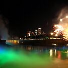 Summer 2019 Fireworks over the Falls  by fototakerTony