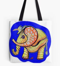 Baby Elephant and snail Tote Bag